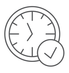 in-time thin line icon watch and countdown clock vector image