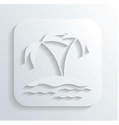 Island icon vector