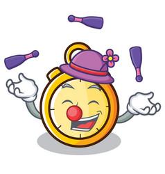 Juggling chronometer character cartoon style vector