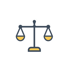law scale flat icon sign symbol vector image