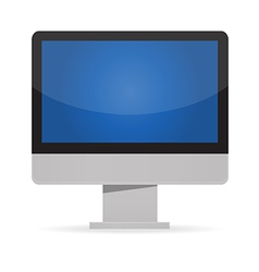 led monitor vector image