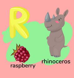 Letter r children s alphabet vector