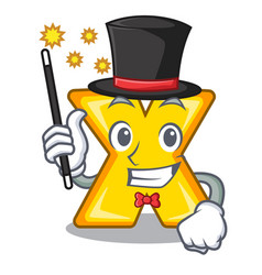 Magician multiply sign icon isolated on mascot vector