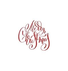 merry christmas red handwritten lettering vector image