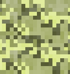 Modern pixel camouflage green pattern vector