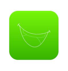 Mouth clown icon green vector