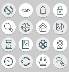 Network icons set with time positive hourglass vector