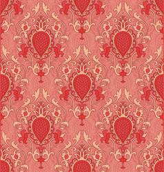 Orange pattern with damask vector