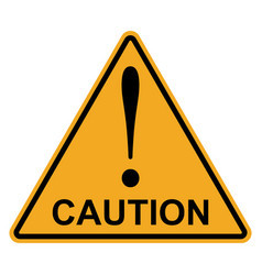 orange yellow triangle exclamation mark caution vector image