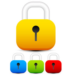 Padlock icons padlock graphics on white vector