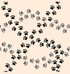 paw print pattern vector image