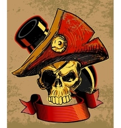 Pirates Skull Doodle vector