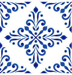 porcelain decorative pattern vector image