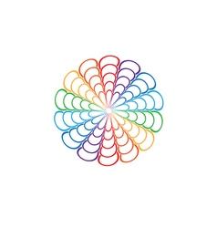 Rainbow Mandala Round Ornament vector