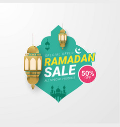 Ramadan sale lable banner template vector