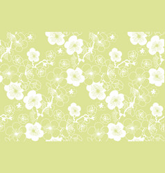 Sakura spring blooming seamless pattern vector