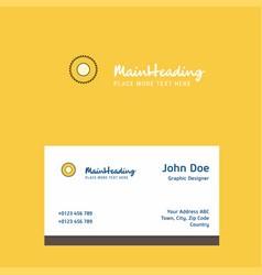 saw logo design with business card template vector image