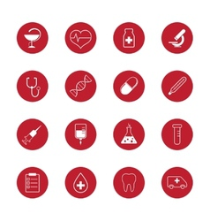 Set of medical icons and research vector