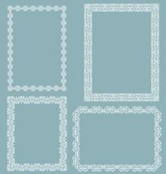 Set of openwork frames vector