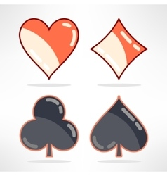 set of playing cards suits icons in modern vector image