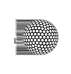 silhouette a golf ball vector image