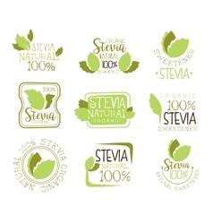 Stevia Natural Food Sweetener Additive And Sugar vector