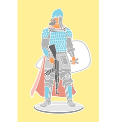 Strong warrior vector image