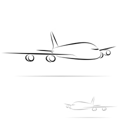 Stylized plane vector
