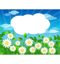 Summer meadow background vector