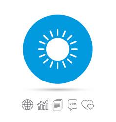 sun icon sunlight summer symbol vector image