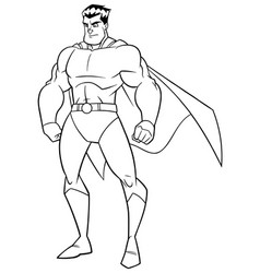 superhero watch line art vector image