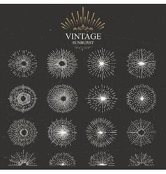 vintage sunburst vector image