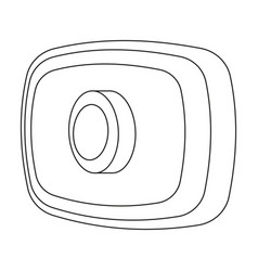 Webcam icon in outline style isolated on white vector