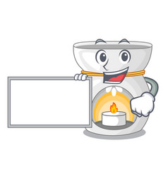 With board aroma lamp in a cartoon versions vector