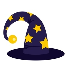 Wizard hat icon flat style vector