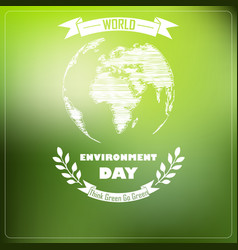 world environment day of shape typography vector image
