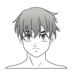 young guy anime boy character manga vector image