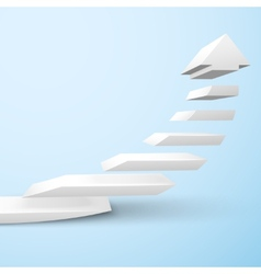Ascending staircase arrow vector image