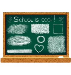 Blackboard with line drawings vector image