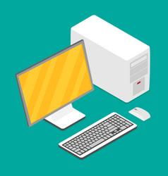 flat isometric computer vector image