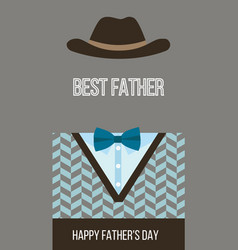 happy fathers day best dad card vector image