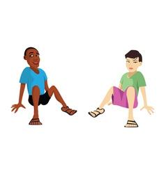kids sitting vector image
