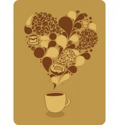 mug of coffee and sweets vector image vector image