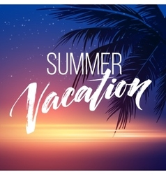 Summer vacation handwriting Typography lettering vector image vector image