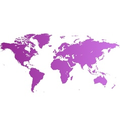 world map violet vector image vector image