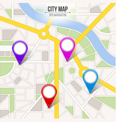creative of map city street vector image