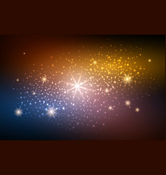 festive blur gold space background vector image vector image