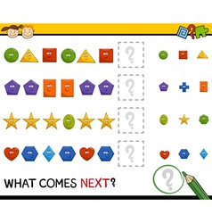 Preschool pattern game with shapes vector