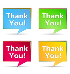 Speech Bubbles with Thank You words vector image