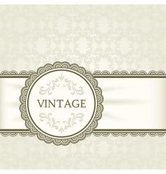 Vintage background ornamental round frame vector image vector image